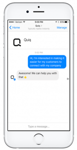Quiq business messaging powers better customer experiences on mobile