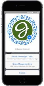 mobile phone @jaspers market facebook messenger customer service, share messenger code, share messenger link