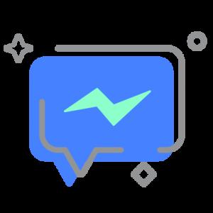 Facebook Messenger icon conversation bubble