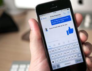 Facebook Messenger on mobile phone
