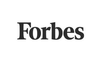 Forbes logo with black text and white background