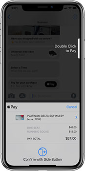 apple pay screenshot on iPhone