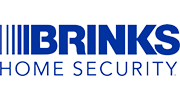 Brinks Home Security logo with blue text and transparent background