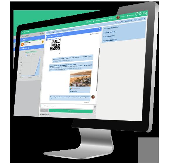 In-app messaging built for the contact center agent desktop