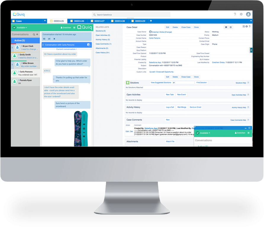 Quiq Salesforce screenshot