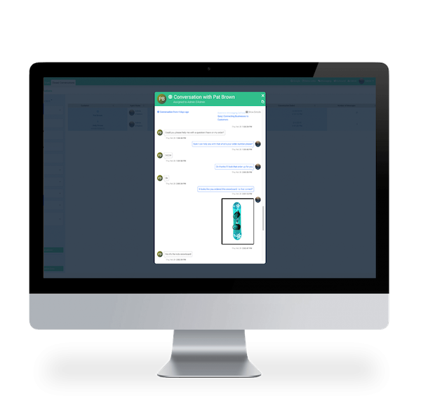 Managers can monitor customer conversations with representatives through their desktop