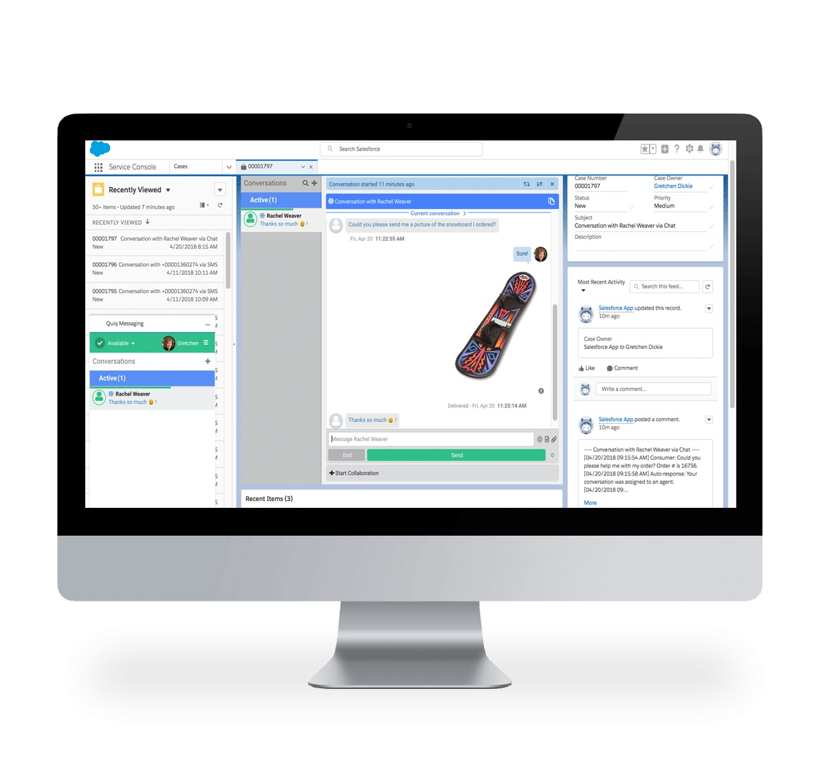 Quiq seamlessly integrates with Salesforce