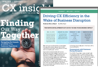 Driving CX Efficiency magazine article screenshot