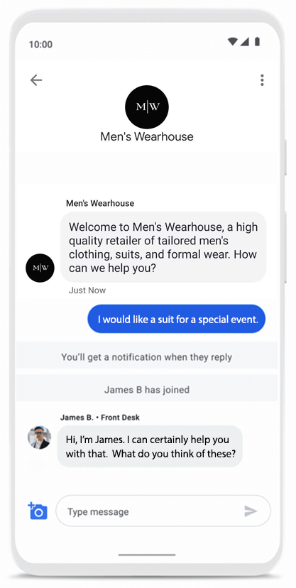 Googles_Business_Messages_Conversation_Mens_Wearhouse