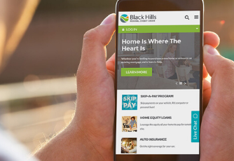 black hills mobile website on an iPhone