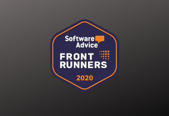Software Advice front runners 2020 logo