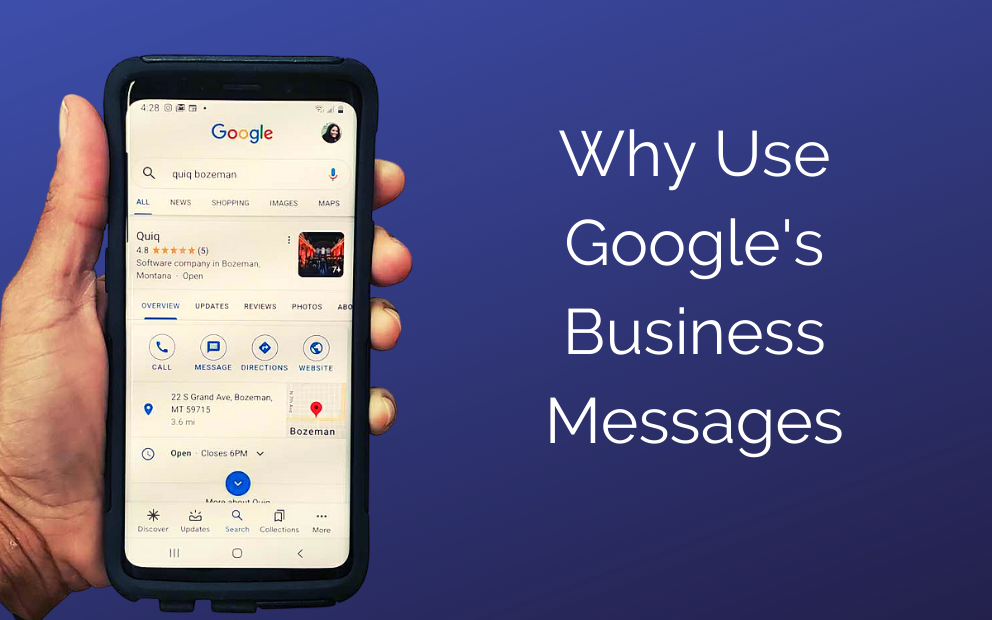 Why use Google's Business Messages?