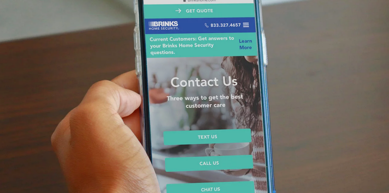 Brinks Home Security mobile customer service