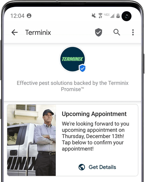 RCS_Business_Messaging_Services_Example_Terminix_Appointment_Reminder