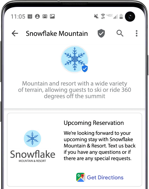 RCS_Business_Messaging_Travel_Hospitality_Industry_Example_Snowflake_Mountain_Reservation
